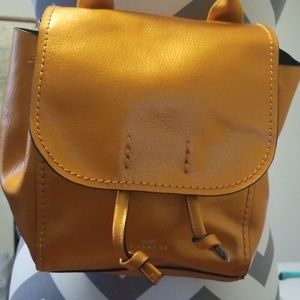 COACH metallic tangerine DERBY small backpack